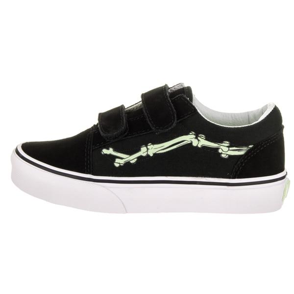 Shop Vans Kids Old Skool V (Glow Bones) Skate Shoe Free