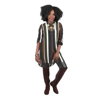 Hadari Women's Loose Fit Stripe Shirt