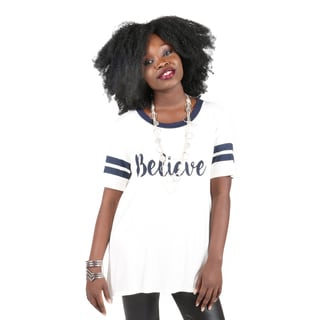Hadari Women's Believe Graphic T-Shirt