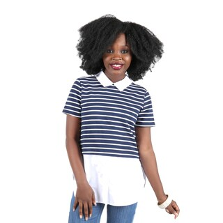 Hadari Women's Collared Stripe Shirt (3 options available)