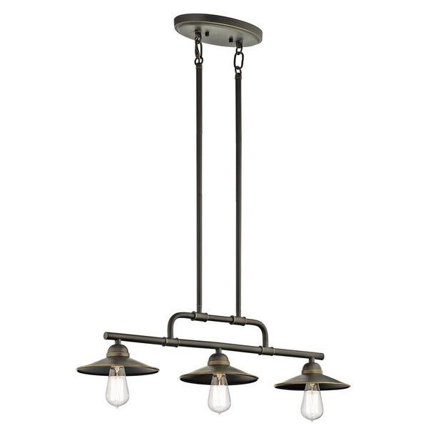 Kichler Lighting Westington Collection 3-light Olde Bronze Indoor/Outdoor Chandelier