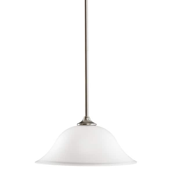 Kichler Lighting Wedgeport Collection 1-light Brushed Nickel Pendant