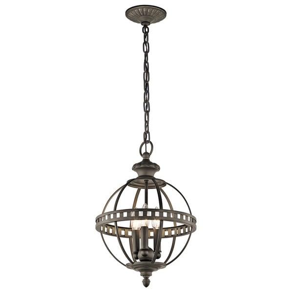 Kichler Lighting Halleron Collection 3-light Olde Bronze Pendant