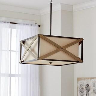 Kichler Lighting Cahoon Collection 4-light Anvil Iron Pendant/Semi Flush Mount