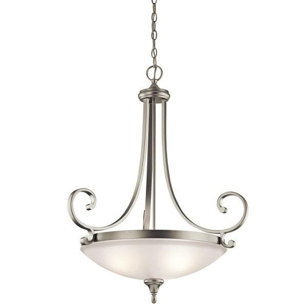 Kichler Lighting Monroe Collection 3-light Brushed Nickel Inverted Pendant