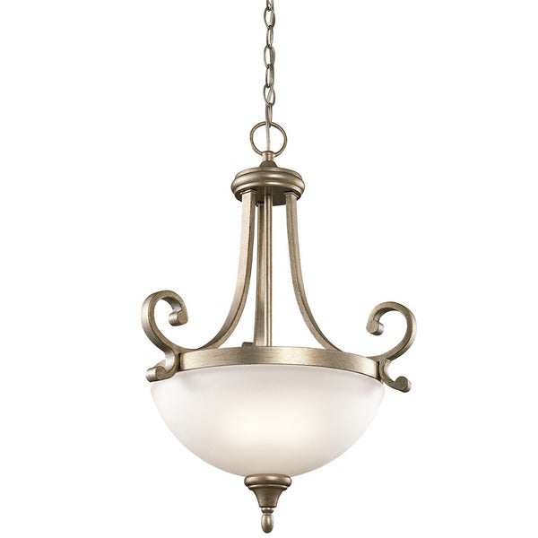 Kichler Lighting Monroe Collection 2-light Sterling Gold Inverted Pendant