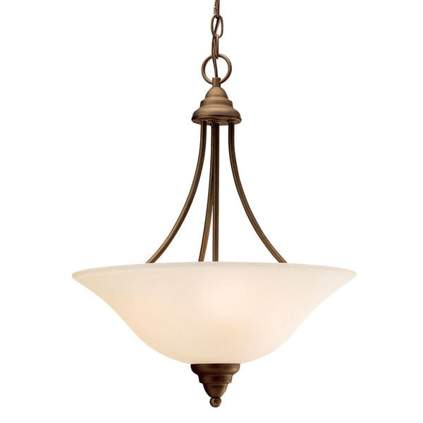 Kichler Lighting Telford Collection 3-light Olde Bronze Inverted Pendant