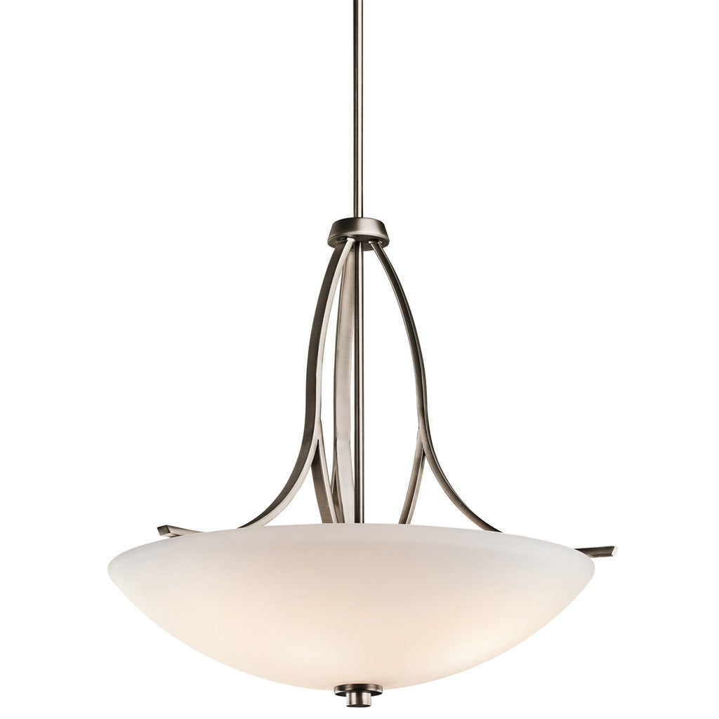 Gracewood Hollow Fenni Collection 3-light Brushed Pewter Pendant