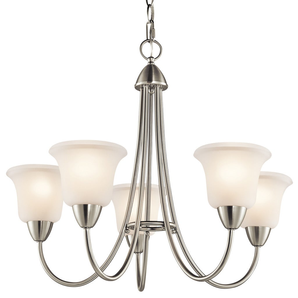 Gracewood Hollow Fettouma Collection 5-light Brushed Nickel Chandelier