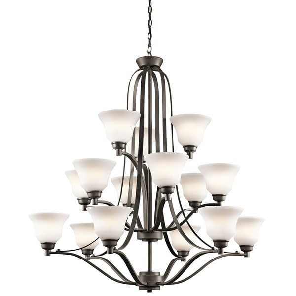 Kichler Lighting Langford Collection 15-light Olde Bronze Chandelier