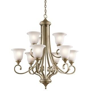 Kichler Lighting Monroe Collection 9-light Sterling Gold Chandelier