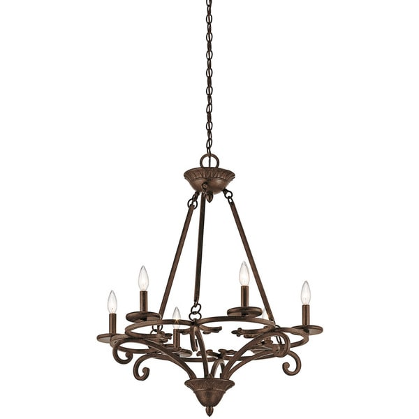 Shop Kichler Lighting Caldella Collection 6-light Aged