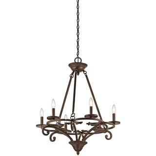 Kichler Lighting Caldella Collection 6-light Aged Bronze Chandelier