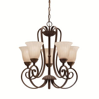 Kichler Lighting Willowmore Collection 5-light Tannery Bronze Chandelier