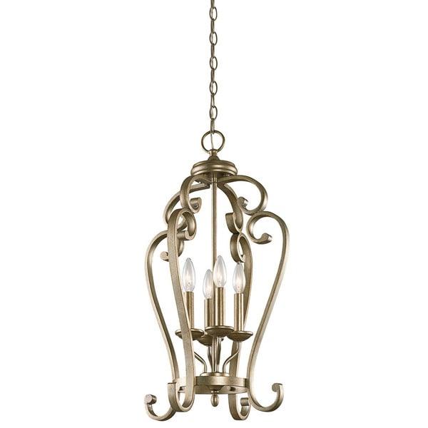 Shop Kichler Lighting Monroe Collection 4-light Sterling