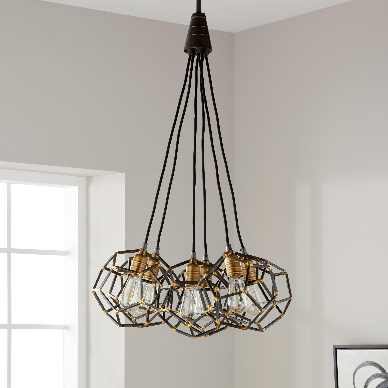 Shop Black Friday Deals On Kichler Lighting Rocklyn Collection 6 Light Raw Steel Foyer Chandelier Overstock 13970442