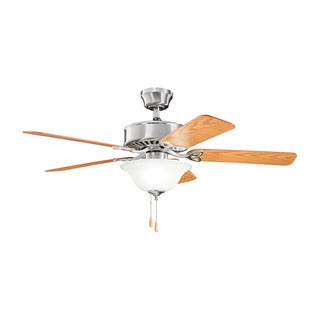 Kichler Lighting Renew Select Collection 50-inch Brushed Stainless Steel Ceiling Fan w/Light - Brushed Stainless Steel