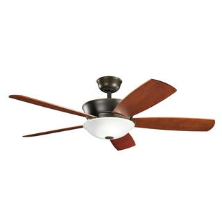 Kichler Lighting Skye Collection 54-inch Oiled Bronze Ceiling Fan w/Light