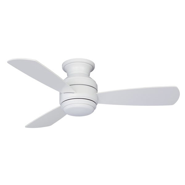Fanimation Studio Collection Level Matte White Metal/ABS 44-inch Snugger Fan with LED Light Kit