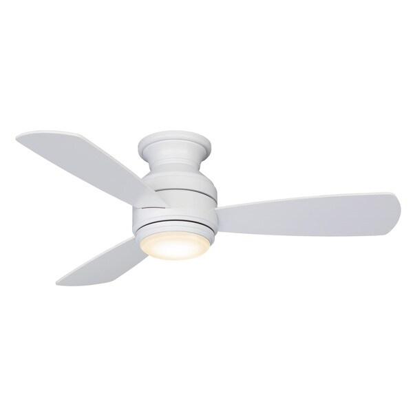 Fanimation Studio Collection Level Matte White 44-inch Snugger Fan with LED Light Kit