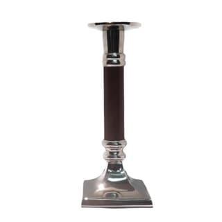 "Elegance Pillar/Tapered Candle Holder 16"" - Wood"