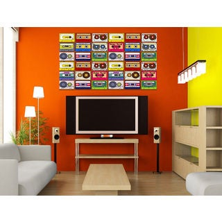Full color decal Music Cassettes sticker, Music wall art decal Jesus Sicker Decal size 22x26