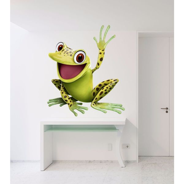 Shop Full color decal Merry frog sticker, Merry frog wall art decal ...