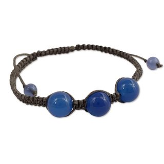 Handcrafted Blue Chalcedony 'Harmony' Bracelet (India)