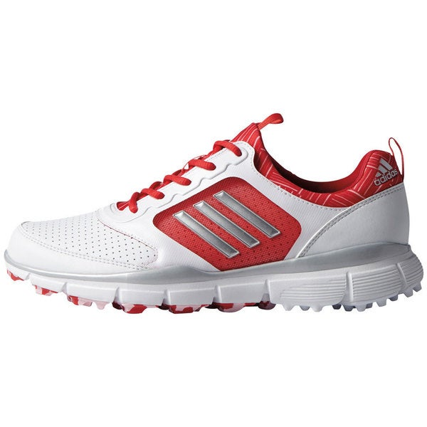 Adidas Women's Adistar Sport White/ Matte Silver/ Ray Red Golf Shoes