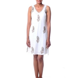 Handcrafted Embellished 'Golden Panorama' Dress (India) (As Is Item)
