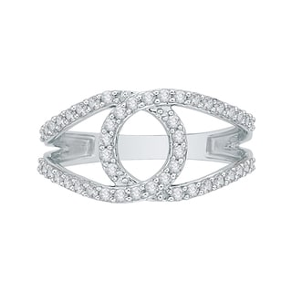 14K White Gold 1/2ct TDW Diamond Fashion Ring