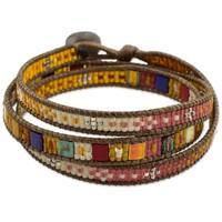 Handmade Beaded 'Colorful Dance' Bracelet (Guatemala)