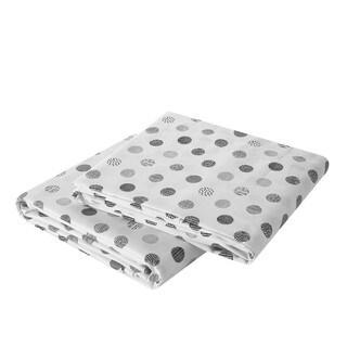 Brielle Circlets Printed Cotton Sateen Pillow Case Set