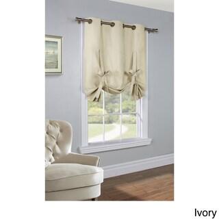Thermalogic Prescott Insulated Tie Up Window Shade (Option: Prescott tie up, Ivory)