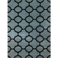 Machine-made Liza Grey Polypropylene Area Rug (8' x 10')