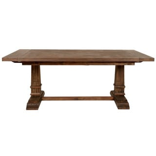 Harlan Rustic Java Double Pedestal Extension Dining Table