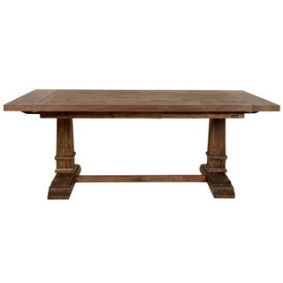 Harlan Rustic Java Double Pedestal Extension Dining Table - Brown
