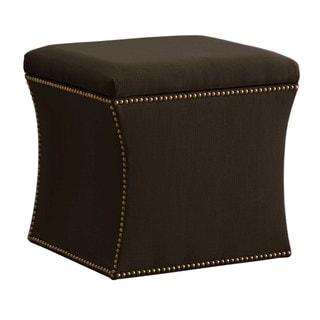 Skyline Furniture Custom Twill Storage Ottoman
