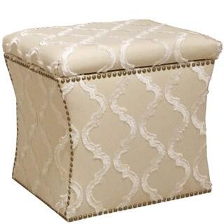 Skyline Furniture Storage Ottoman in Infrigement Parchment