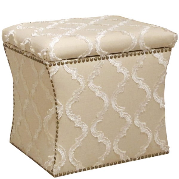 Skyline Furniture Storage Ottoman In Infrigement Parchment Free Shipping Today 13982170