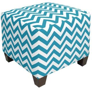 Skyline Furniture Zigzag Turquoise Ottoman