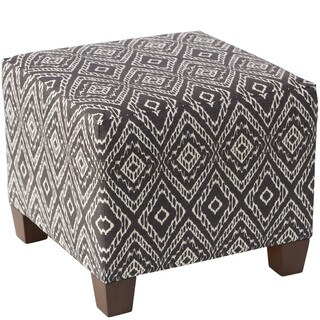 Skyline Furniture Strie Texture Storm Square Ottoman