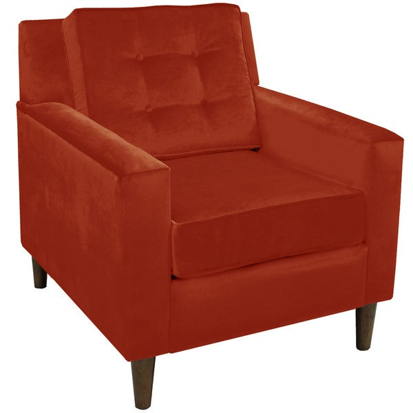 Skyline Furniture Velvet Tufted Accent Chair Free Shipping Today 13982197
