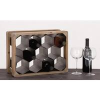 Urban Designs La Maison Metal/Oak Wood 11-bottle Wine Rack