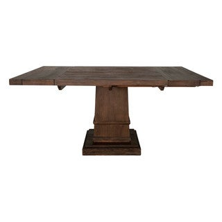 Harlan Square Extension Dining Table, Rustic Java
