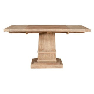 harlan square extension dining table stone wash - Square Dining Table