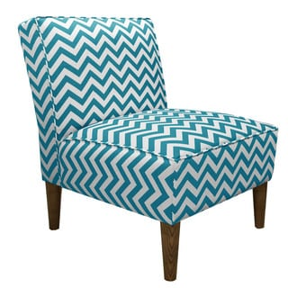 Skyline Furniture Accent Chair in Zig Zag True Turquoise