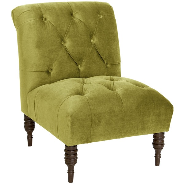 Skyline Furniture Modern Tufted Chair In Mystere Velvet