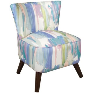 Skyline Furniture Slipper Accent Chair in Syncopation Periwinkle