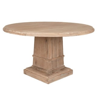 "Harlan 60"" Round Dining Table, Stone Wash"